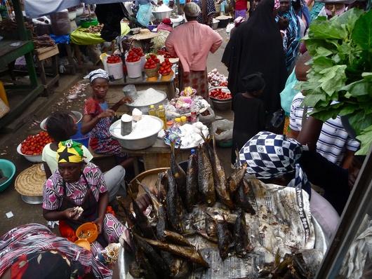 Los miercoles son dias de mercados en el barrio musulman de Accra