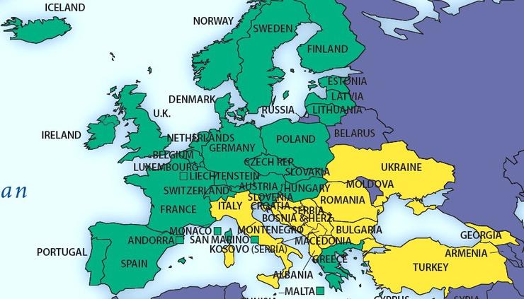 "In verde ""stampa libera"", in giallo ""parzialmente libera"", in blu ""non libera"""