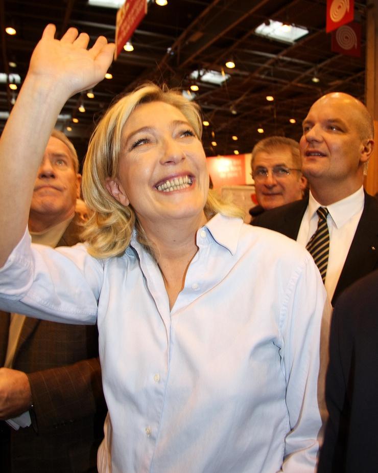 Parteichefin der französischen FN und Kandidatin für die Präsidentschaftswahlen im April 2012