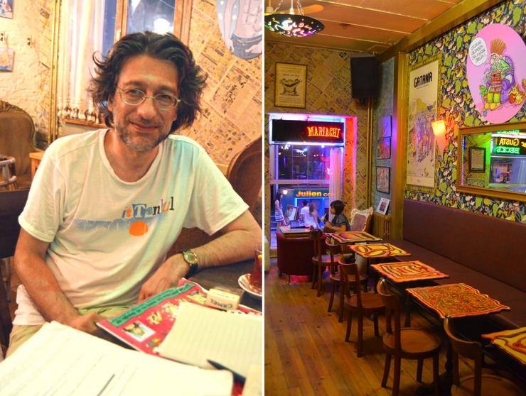 Unter den Istanbuler Redaktionsräumen von Leman liegt das redaktionseigene Café mit angeschlossenem Shop.