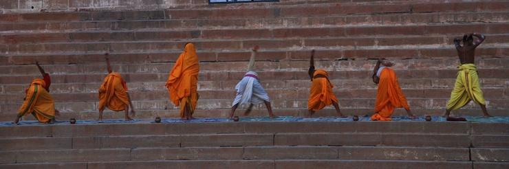 Muchos europeos van a India buscando espiritualidad