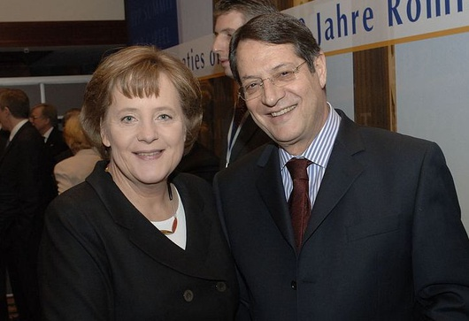 Angela Merkel und Nikos Anastasiadis 2007