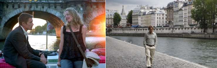 Before Sunset (2004) and Midnight in Paris (2011) both feature male writers in Paris as one of their themes
