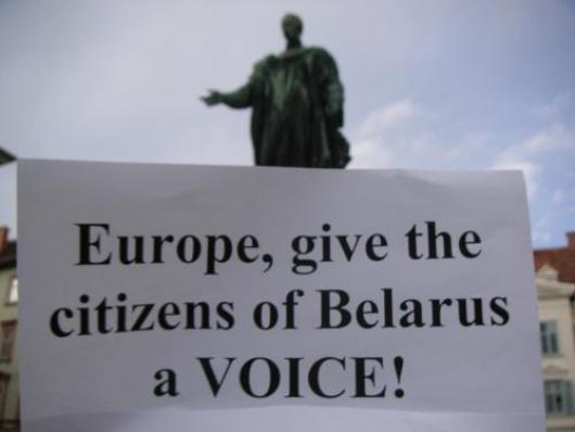 Free Belarus action Graz