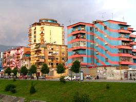 Rubim Bego sees space for urban art on Tirana's still-grey walls