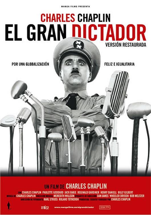 Cartel de 'El Gran Dictador' (1940)