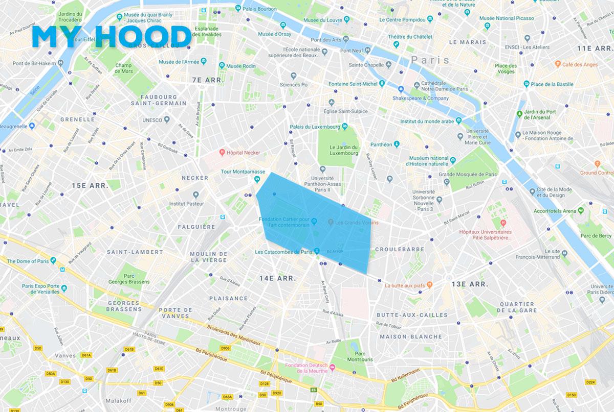 Carte Montparnasse