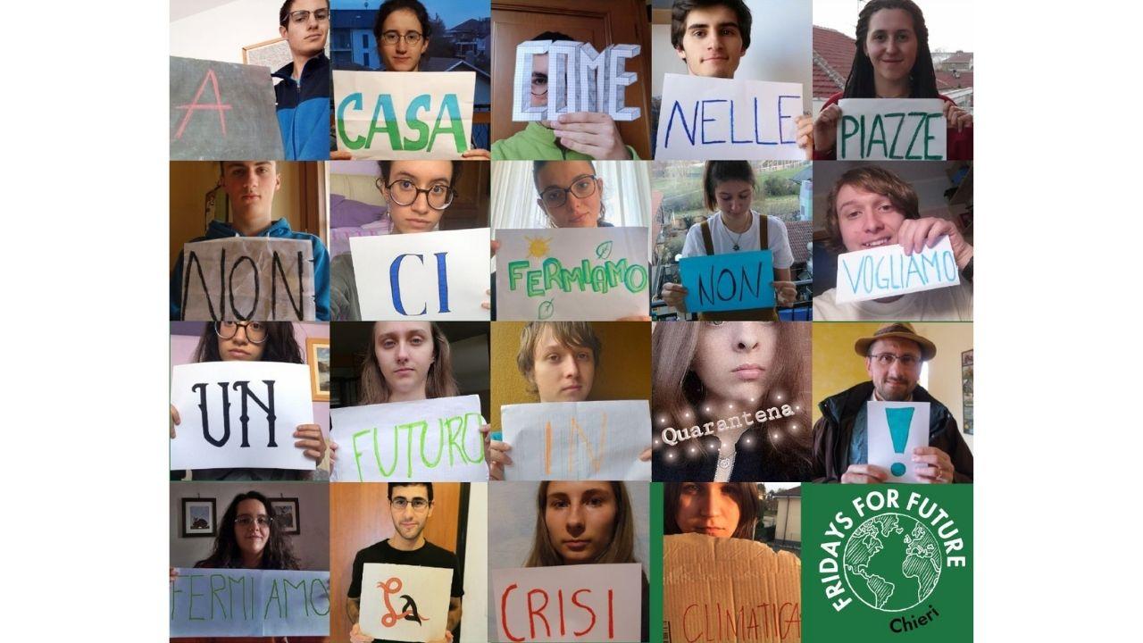 Digital Strike del gruppo locale FFF Italia di Chieri,