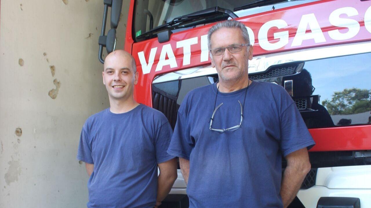 Marko et Ljubomir sont pompiers dans la caserne de l'Ouest de la ville