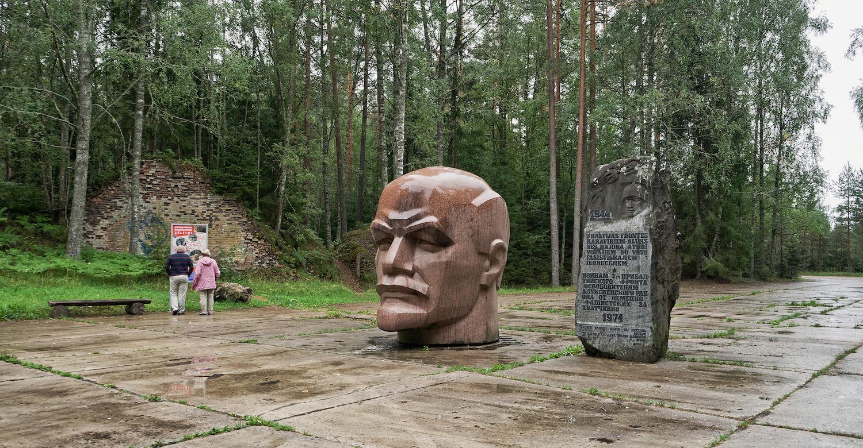 Zeltiņi, Lettonie, monument à Lénine