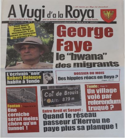First issue of A Vugi d'a la Roya, 24 July 2017