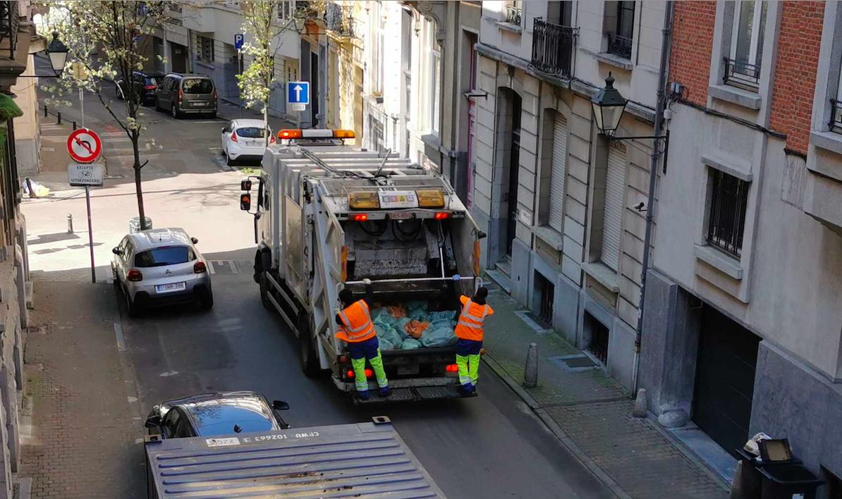Recolectores de basura en Bélgica