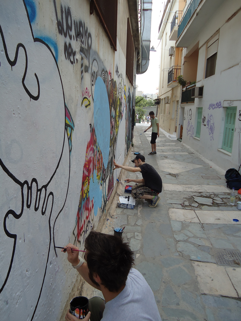 Athens and street art in Europe