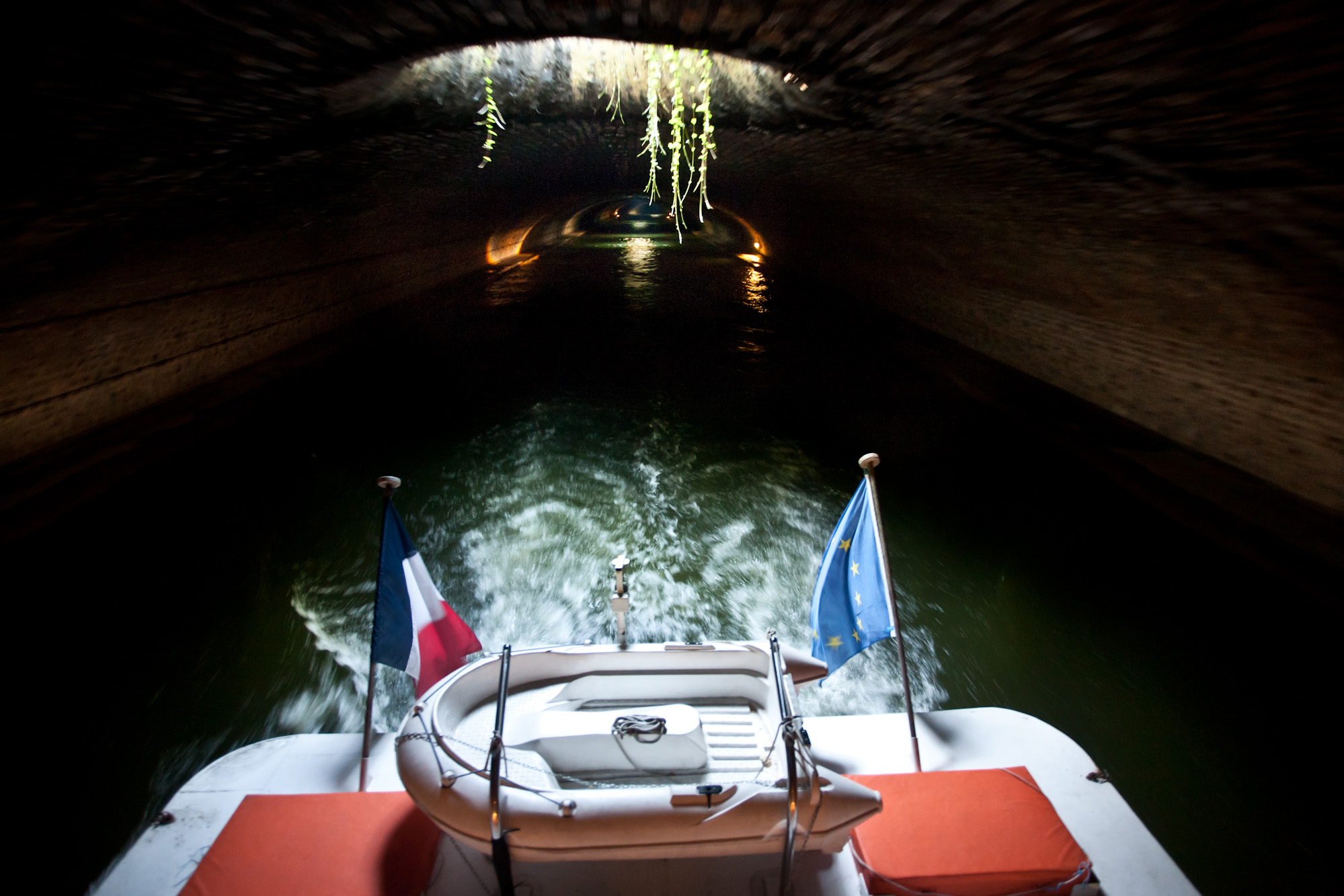 Underground section of Saint-Martin canal
