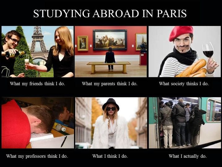 Exchange students in Paris