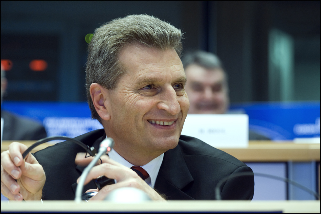 Günther Oettinger (energy commissioner): 'the comebacks one'