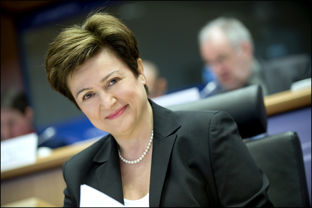 Kristalina Georgieva: (commissioner for humanitarian aid and crisis response): 'the applauded one'