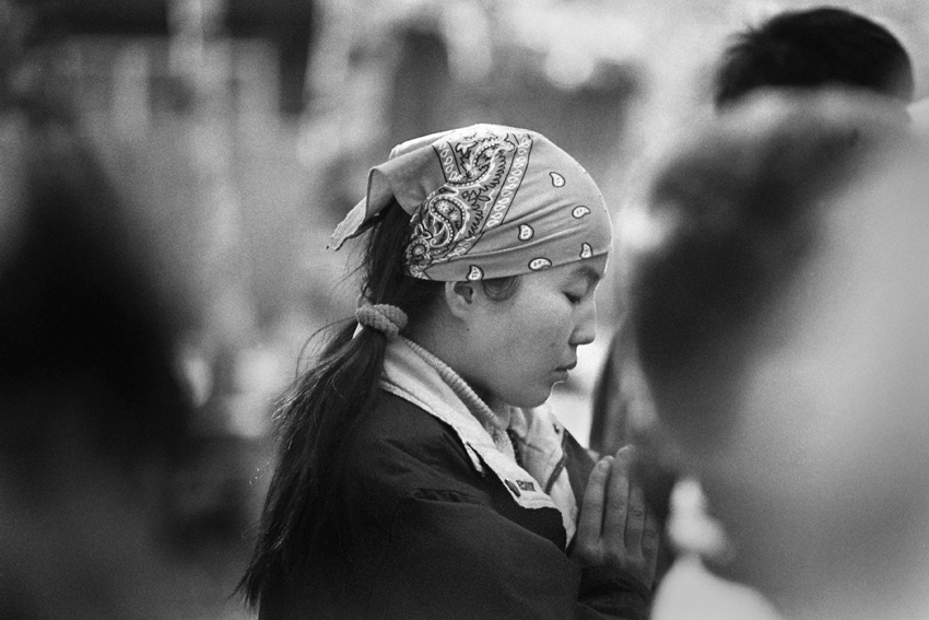 El budismo como saludo