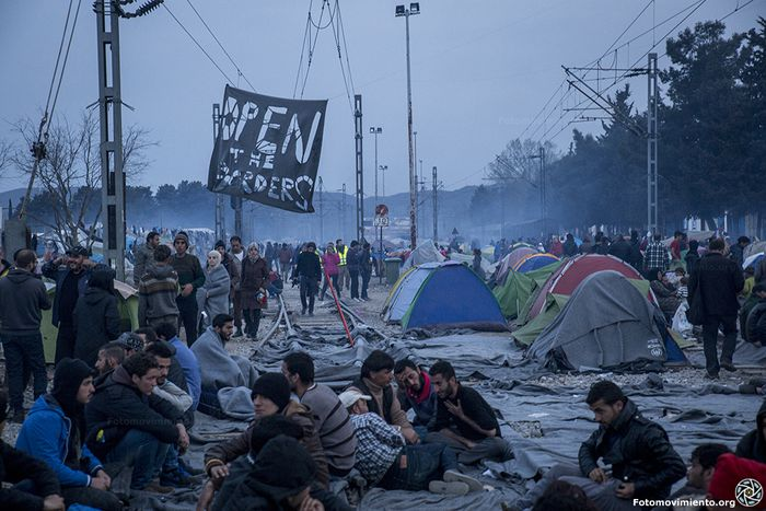 Image for Idomeni: seeking asylum via Skype