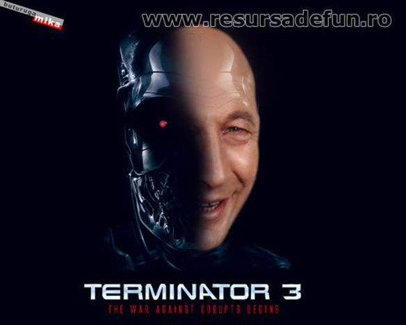 Image for Bloggers in Romania, hailed by President Terminator
