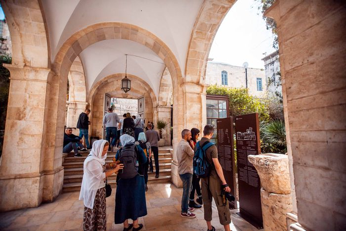Image for Between the Location and Exhibits of the Terra Sancta Museum in the Old City of Jerusalem