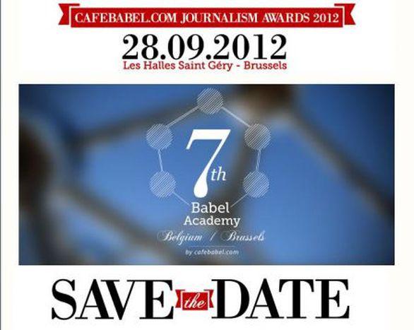 Image for Cafebabel.com Journalism Awards 2012 ceremony, Brussels