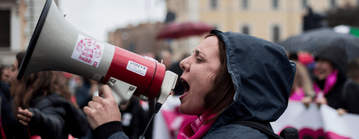 Image for #NonUnaDiMeno e il suo grido