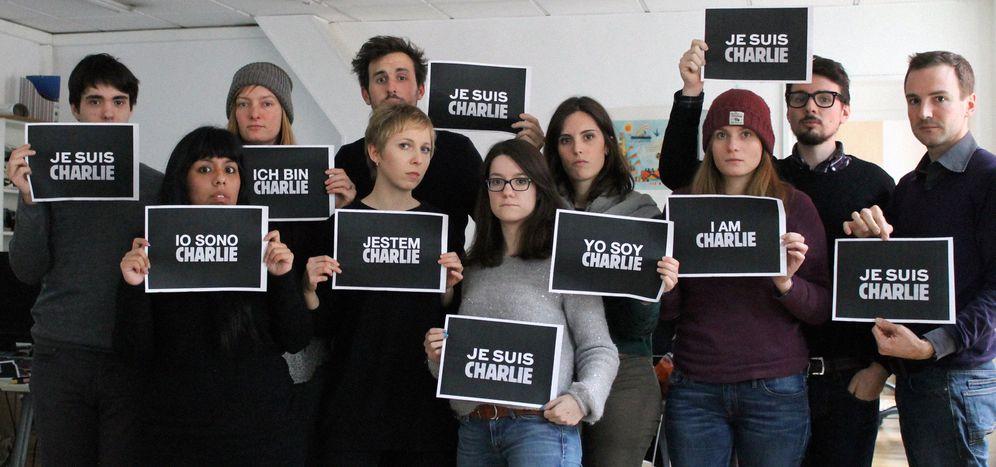 Image for Cafébabel solidarisch mit Charlie Hebdo, #JeSuisCharlie