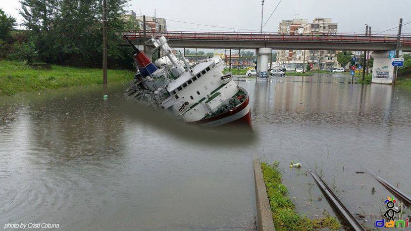 Image for Making fun of city flooding in Romania