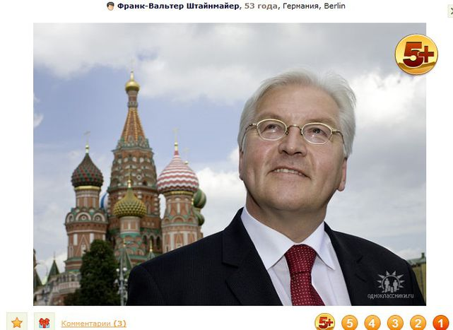 Image for 'Fake wie dieser Frank': Steinmeier punktet in russischer Community