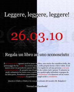 Image for 26.03.2010 Regala un libro ad uno sconosciuto