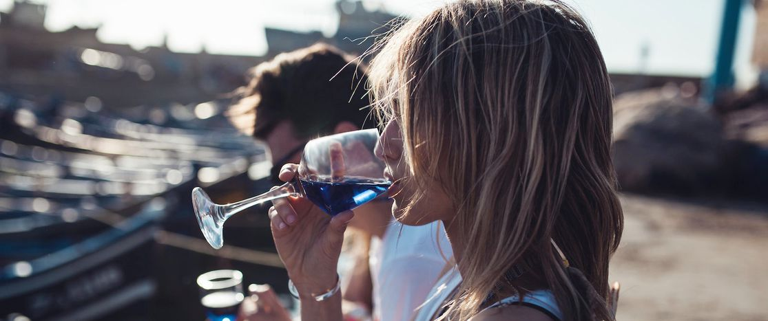 Image for Is blue wine the big summer drink of 2016?