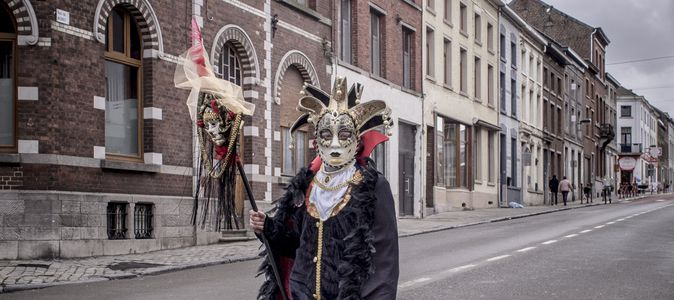 Image for In the madness of the craziest carnival in Belgium