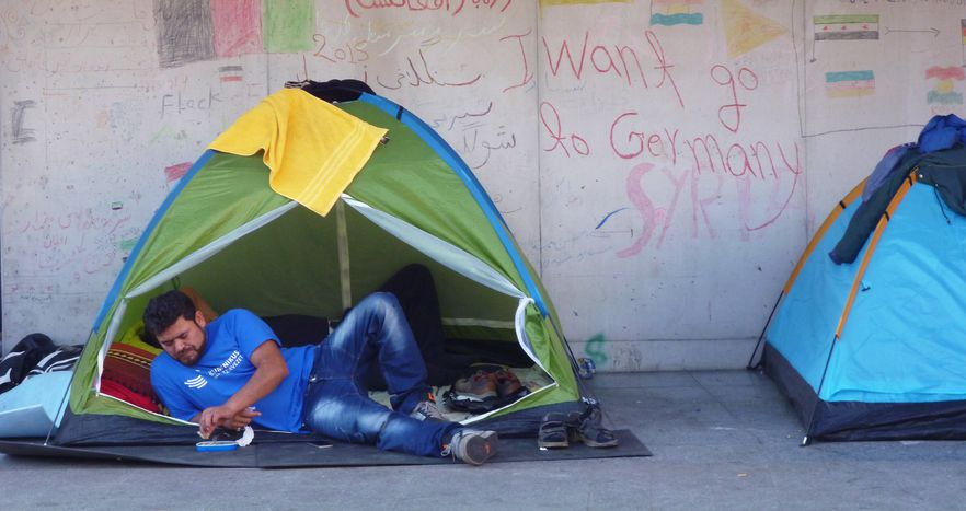 Image for Les réfugiés en Hongrie : chronique d'une dystopie
