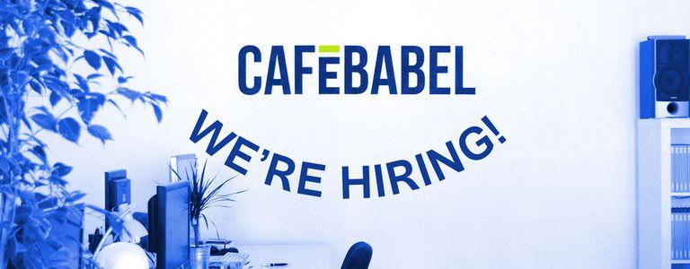 Image for Cafébabel is hiring!