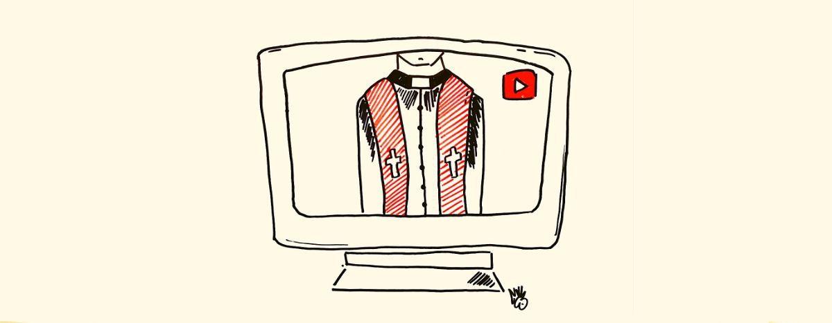 Image for En tiempos de distanciamiento, misas a través de Youtube