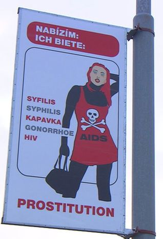Image for Chomutov, Czech Republic: fighting prostitution with posters