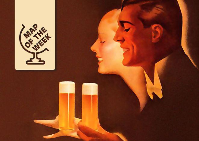 Image for Mappa della settimana: quanta birra si beve in Europa?