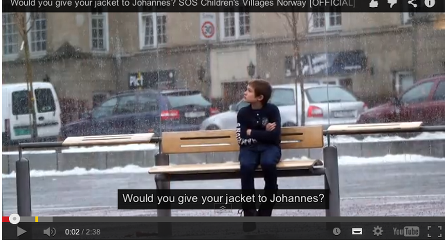 Image for Help children in syria: would you give away your jacket to johannes?