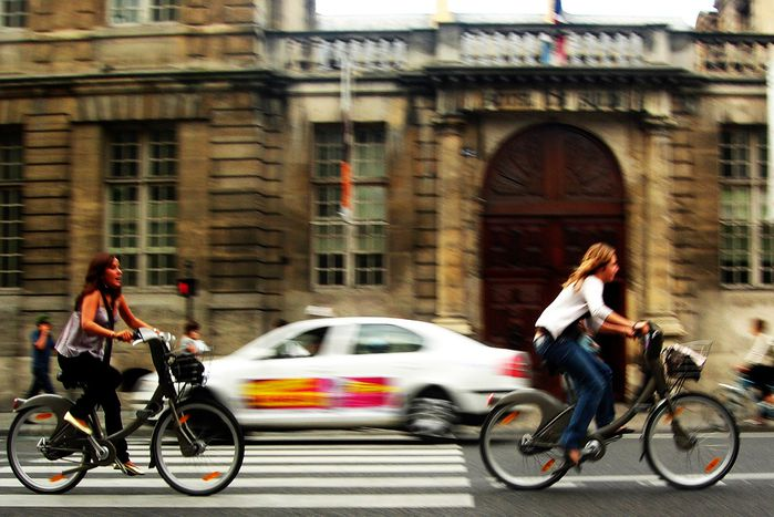 Image for Velib: bicycle + freedom on city streets