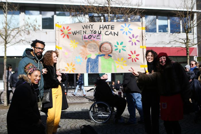 Image for Aarhus protesters speak out against racism