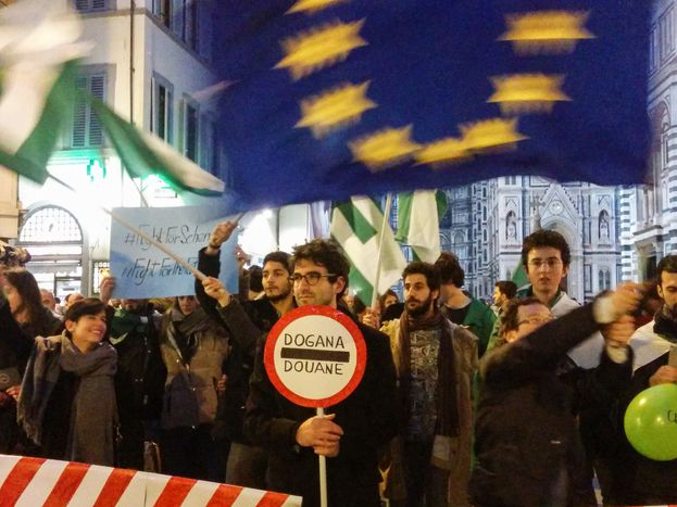 Image for Firenze dice: #DontTouchMySchengen