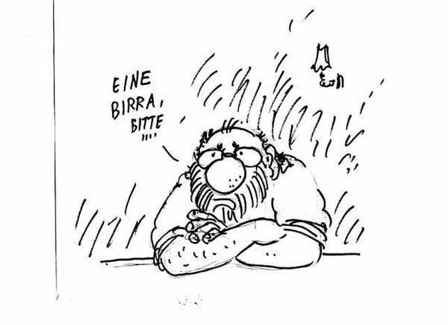Image for Il cielo di Berlino sopra Bobo. Le vignette di Staino in mostra alla GAM di Torino