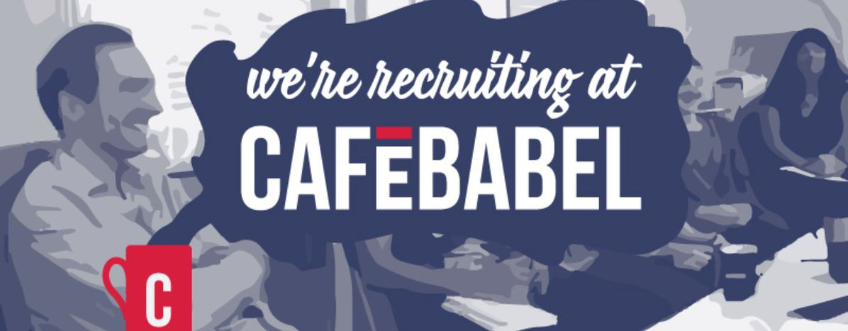 Image for Cafébabel is recruiting! Videomaker andEditorial Liaison for our network(Apply before 31 August 2016)