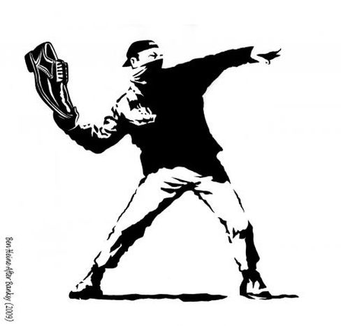 Image for Il lanciatore di scarpe - Banksy Revisited