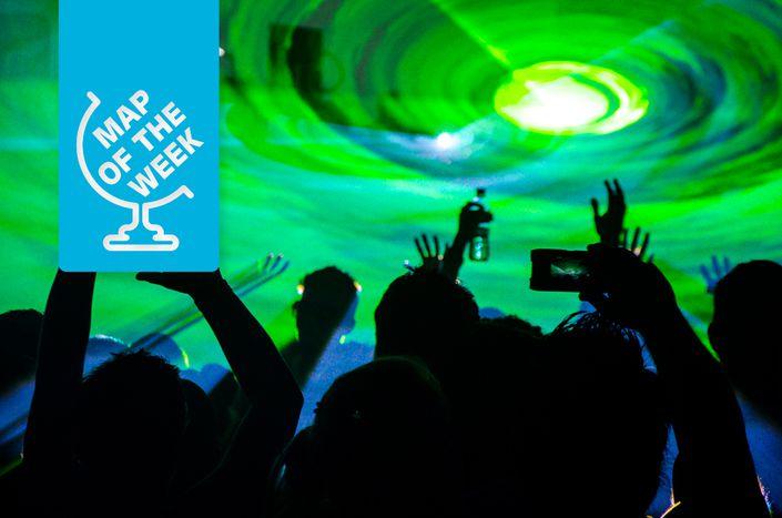 Image for Mapa: Los festivales de música más caros del verano