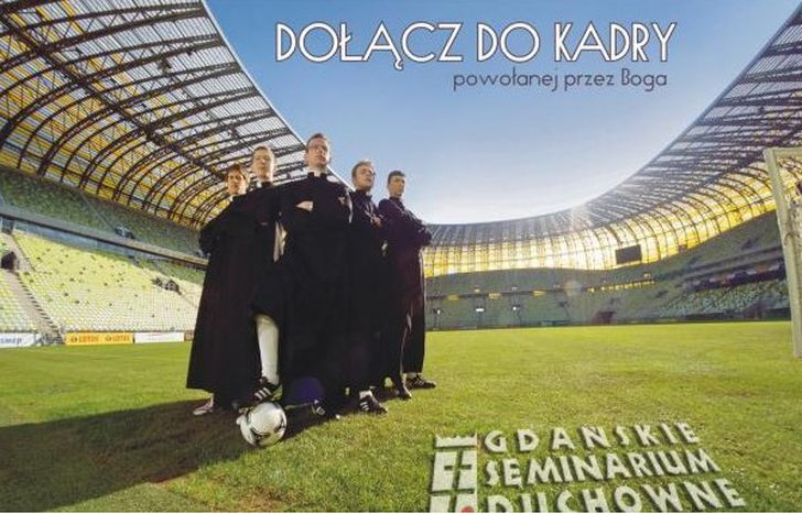 Image for Poland's young funky priests recruiting at Euro 2012
