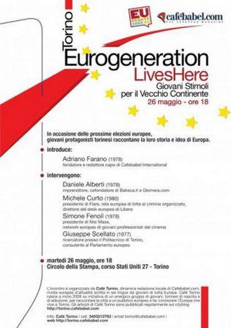 Image for Eurogeneration lives here: dibattito a Torino