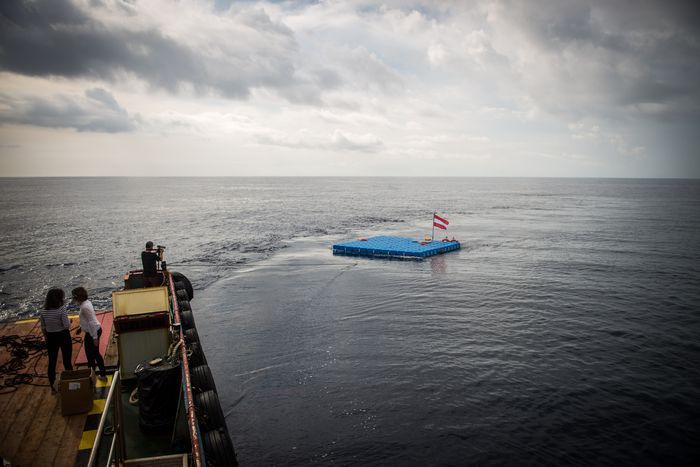 "Image for ""Alan 1"": The raft for migrants that could save lives"