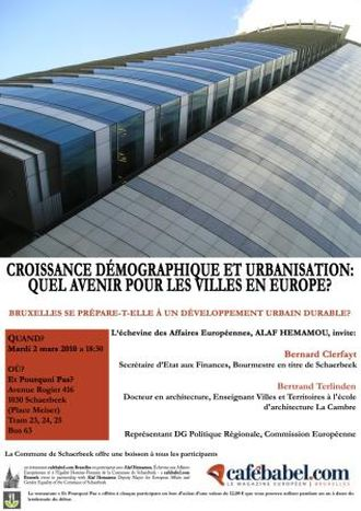 Image for Population Growth and urban development, what is the future of European cities? DEBATE WITH US ON MARCH 2!